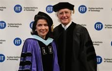 Luciano Benetton (right) with FIT president Dr. Joyce F Brown. Courtesy: FIT