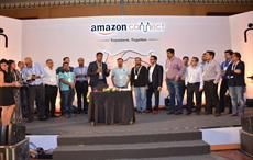 Courtesy: Amazon India; Gopal Pillai, Director & General Manager, Seller Services, Amazon India celebrating Amazon's fifth anniversary in India with its most tenured sellers.