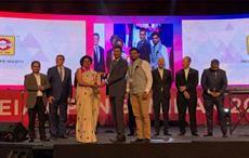 Ms. Seema Srivastava, Executive Director, India ITME Society receiving the award.