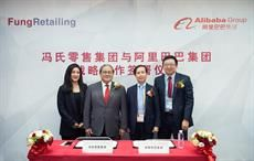 L-R: Sabrina Fung, Group MD of Fung Retailing Ltd; Dr. Victor Fung, Group chairman of Fung Group; Daniel Zhang, CEO of Alibaba Group; and Toby Xu, VP of Alibaba Group