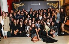 Anna Dello Russo at Teatro Manzoni with the students