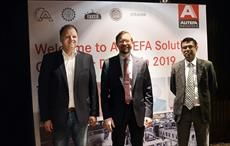 L-R: Andreas Meier, Product Manager Nonwovens; Alexander Stampfer, Regional Sales Director Nonwovens; Amar Surve, Sales Manager India at Autefa Solutions Customer Day India