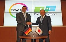Kaoru Ino, Representative Director, President and CEO of DIC Corporation (right) and Dr. Markus Steilemann, CEO of Covestro (left)  Courtesy: Covestro