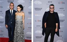 (Left): Steven Kolb (CFDA), Stacey Bendet (CEO, Alice and Olivia) (Right): Brandon Maxwell (Fashion Designer)Pic: PR Newswire/AAFA