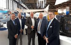 Fabrizio Ponte, EVP (Solvay), Arno Van Mourik, CEO(Airborne), Marcus Kremers, CTO(Airborne), Mike Blair, EVP(Solvay), Gerald Perrin, Global Growth Sales Director(Solvay); Pic: Solvay