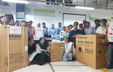 Pratibha Syntex gifts home appliances to 4041 associates