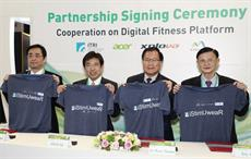 (From Left): Director of Xplova Jia-Yan Chen, ITRI President Edwin Liu, ITRI Senior VP Jia-Ruey Duann, and Everest Textile VP Eric Wu. Pic: Globenews Wire