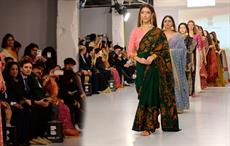High Commission of India (HCI) celebrated 'India Day' at London Fashion Week showcasing sarees of Indian states. Pic: HCI