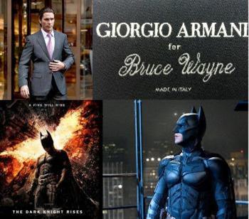 Giorgio Armani styles 'The Dark Knight Rises' wardrobe