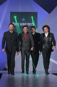 Four bollywood directors walk ramp for Blackberrys AW2012