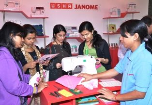 Usha International contemporizes sewing with LSR students