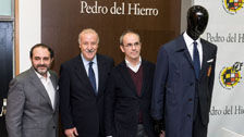 Pedro del Hierro presents Spain football team suit