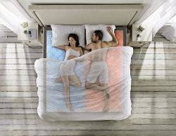 Select individualizes temperatures on both sides of bed