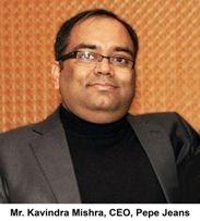 Pepe Jeans India adds Kavindra Mishra as CEO
