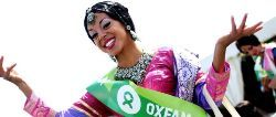 Oxfam shows creations from designer Neishaa at London Mela