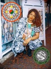 M.I.A. designs counterfeit Versace clothing inspired line