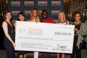 Beyoncé & Frida reunite at Gucci for fundraising event