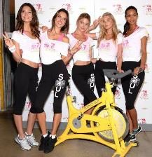 Victoria's Secret models raise funds for cancer research