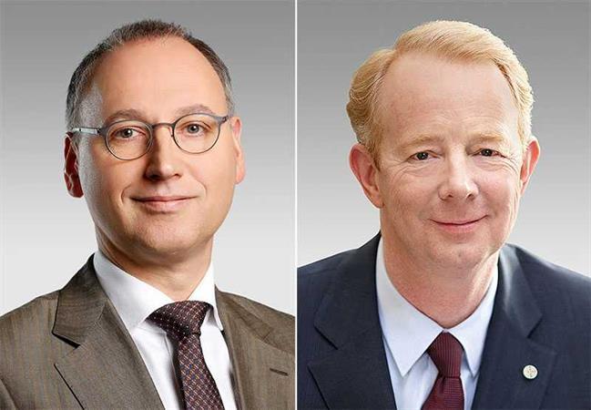 Werner Baumann (left) and Dr. Marijn Dekkers