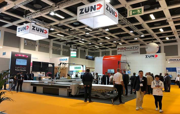 Zund booth at FESPA 2018. Coutresy: Zund