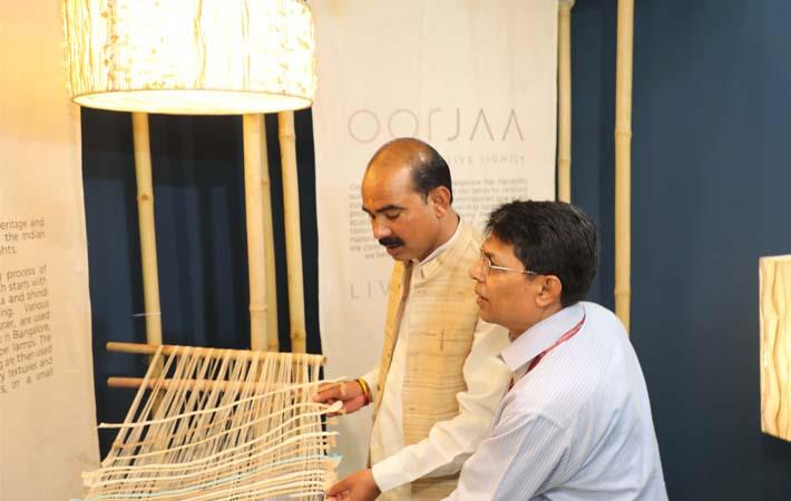 Minister of state for textile Ajay Tamta at Heimtextil & Ambiente India; Courtesy: Messe Frankfurt
