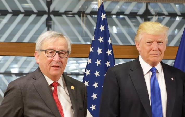 President Juncker (left) with President Trump; Courtesy: eeas.europa.eu