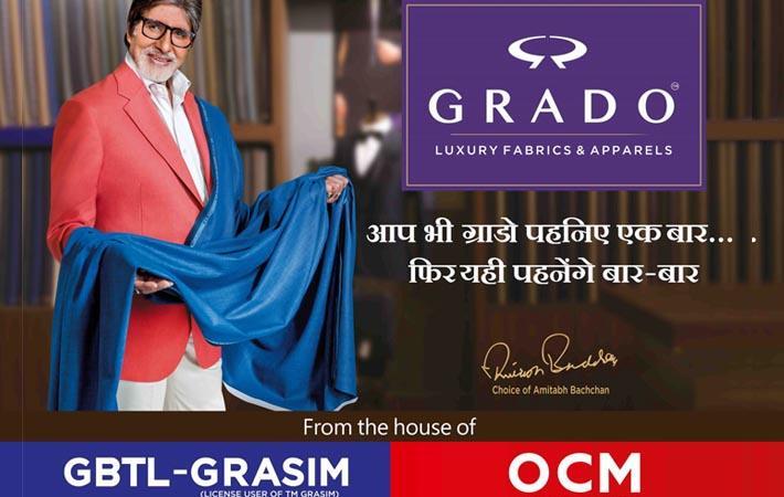 Amitabh Bachchan is brand ambassador of Grado - Fibre2Fashion