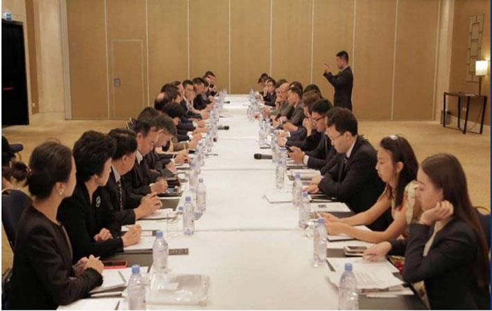 Respresentatives of over 30 Chinese companies in a meeting with officials of Kazakh Invest National Company; Courtesy: primeminister.kz
