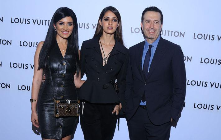 (l-r) Sunaina Kwatra GM Louis Vuittton India, Disha Patani, Christopher Kilaniotis, president Louis Vuitton, South Asia ; Courtesy: Louis Vuitton