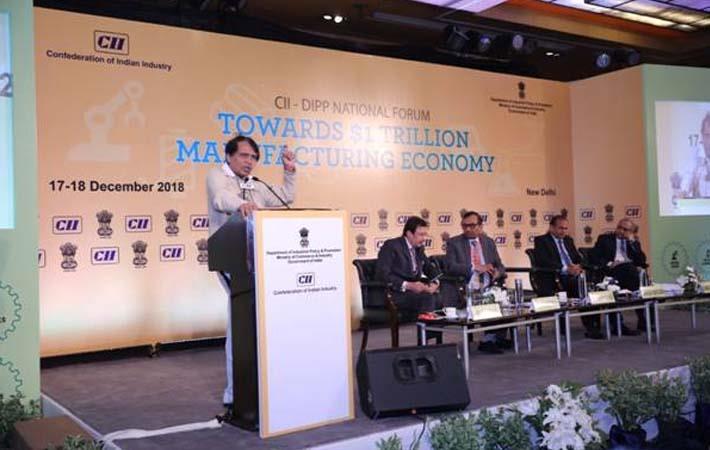 Suresh Prabhu addressing DIPP – CII National Forum in New Delhi