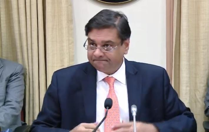 RBI Governor Urjit Patel addressing a press conference after the release of fifth Bi-Monthly Monetary Policy, 2018-19. Courtesy: Youtube/RBI