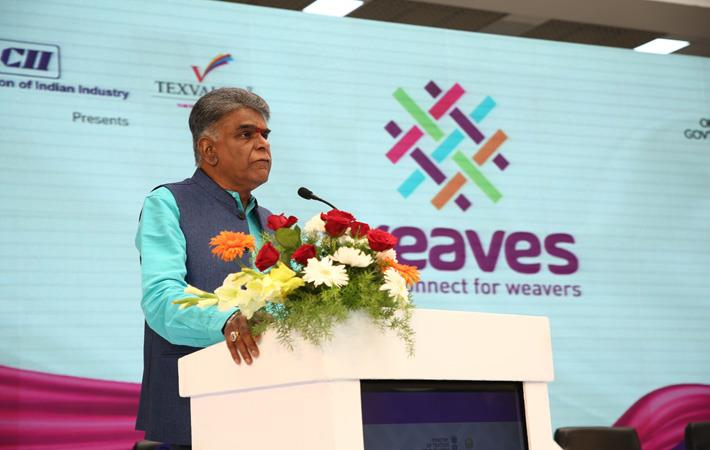 A Sakthivel, vice chairman, AEPC & regional chairman, FIEO, speaking at the event