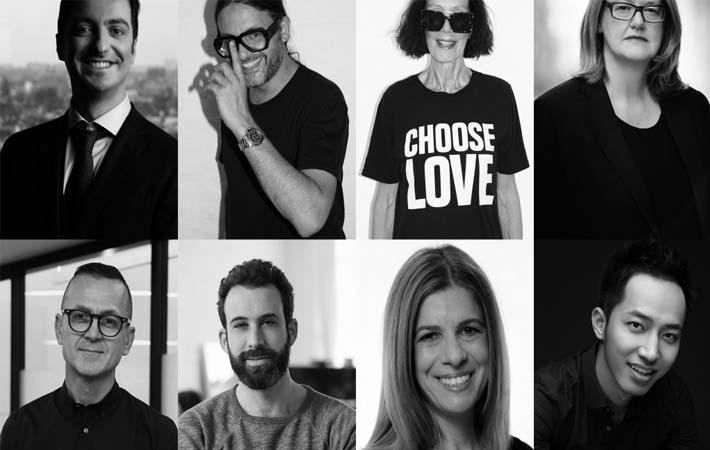 Clockwise from top left: Baptiste Carriere, Cyrill Gutsch, Katharine Hamnett, Marion Hume, Michael Wang, Jennifer Silberman, Michael Preysman, Steven Kolb/Pic: Copenhagen Fashion summit