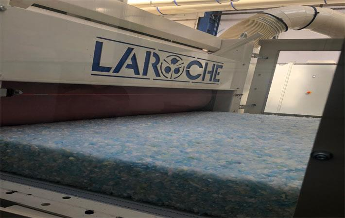 Laroche produces recycled nonwovens at technical centre