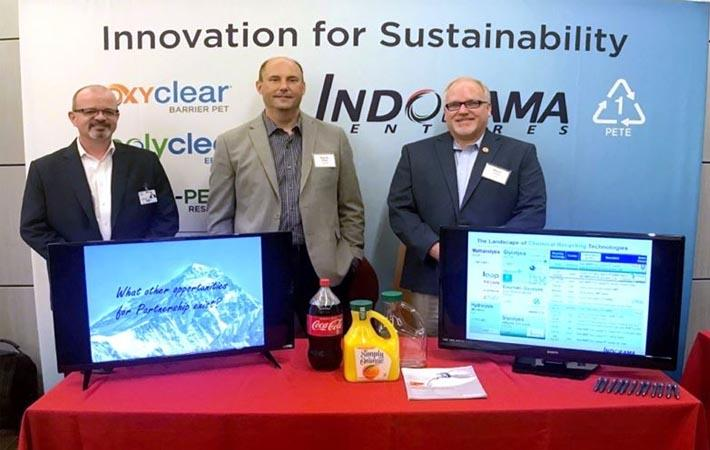 (l-r): Conor Twomey (R&D Director), Byron Geiger (COO, Indorama Ventures Sustainable Solutions) and Steven Landrie (Technical Sales Manager); IVL