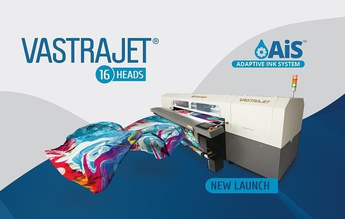 Colorjet to launch 16-head Vastrajet with AiS at ITMA 2019