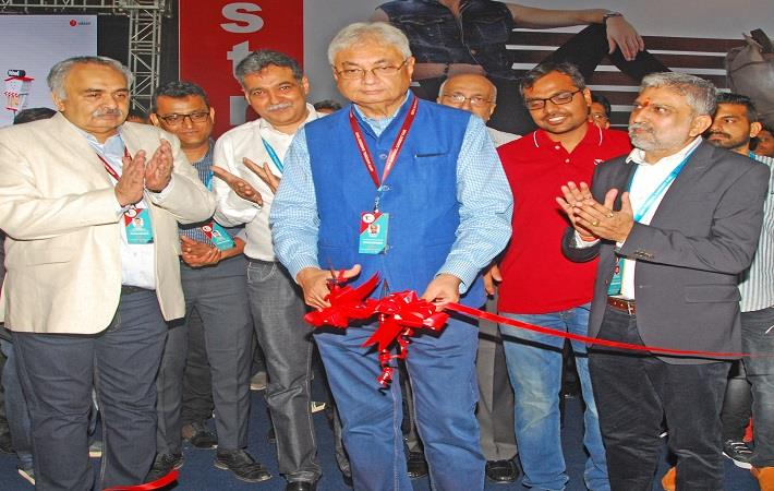 CMAI president Rahul Mehta and other office bearers inaugurating the 69th National Garment Fair in Mumbai on July 15.