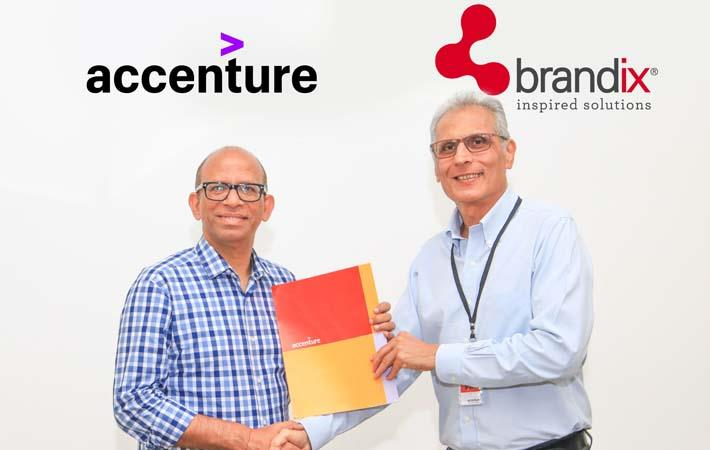 Manish Sharma, group operating officer for Accenture Operations, and Ashroff Omar, Brandix