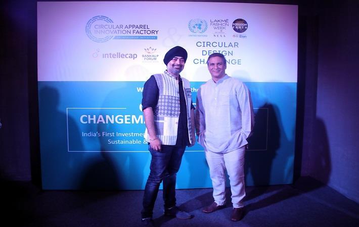Jaspreet Chandok, VP & Head of Fashion at IMG Reliance; Vineet Rai, CEO & Managing Director at Aavishkaar venture management; Pic: RIL