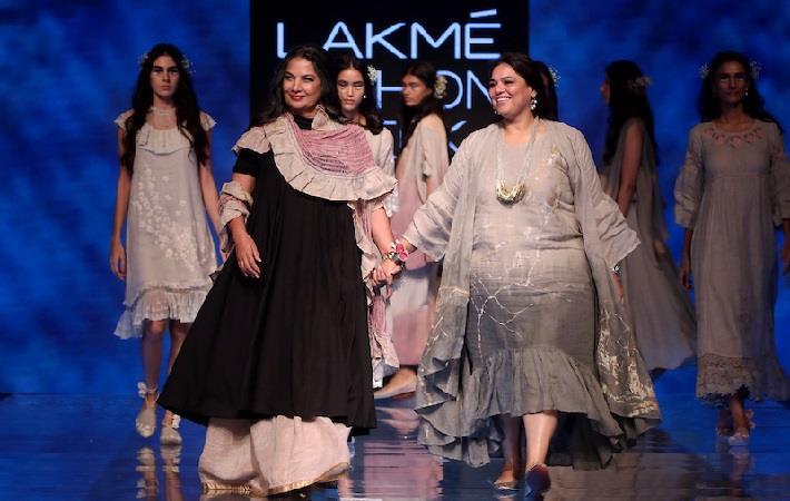 Shabana Azmi for Kaveri at the LFW WF 2019. Pic: LFW