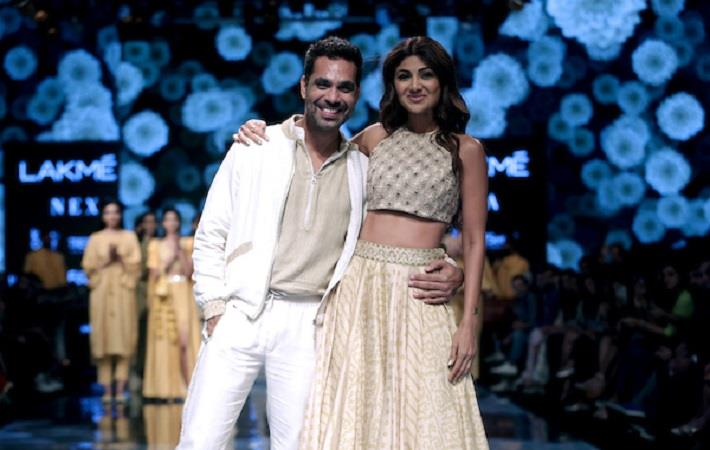 Shilpa Shetty walking for Punit Balana at Lakme Fashion Week WF 2019. Pic: LFW
