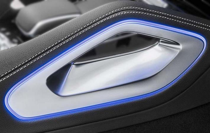 Centre console handle with ambient lighting for the Mercedes GLE. Pic: EMS Group