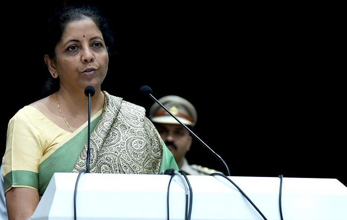 Indian finance minister Nirmala Sitharaman. Pic: PIB