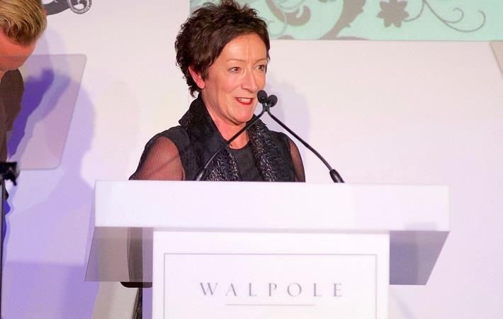 Pam Batty, VP of Corporate Responsibility at Burberry, speaking at the awards event. Pic: Burberry