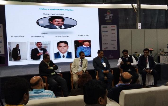 Anjani Prasad of Archroma India Pvt Ltd moderating the second panel discussion on