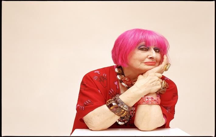 Dame Zandra Rhodes, British Designer; Pic: Pure London
