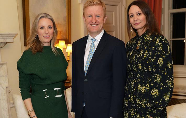 (L-R)Stephanie Phair, Chair, BFC, Oliver Dowden, Secretary of State for DCMS, Caroline Rush, CEO BFC. Pic: BFC