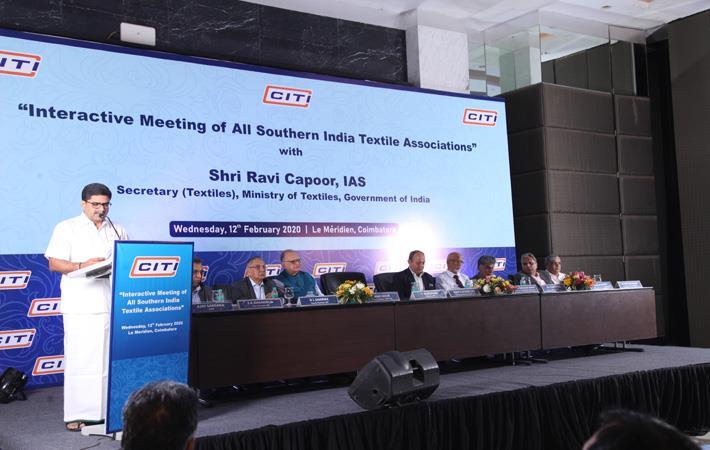 T.Rajkumar addressing the meet. Pic: SIMA