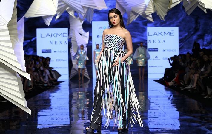 Designers Pankaj Nidhi Bolster Green Fashion At Lfw Fibre2fashion