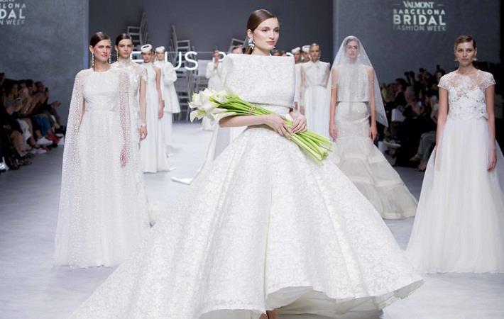 Pic: Valmont Barcelona Bridal Fashion Week